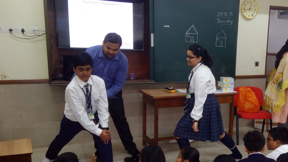 Footcare conducted by BATA(in collaboration with Sharp NGO)